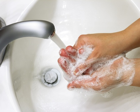 Personal Care: cleaning hands with soap