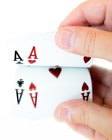 texas hold'em: two aces in hand