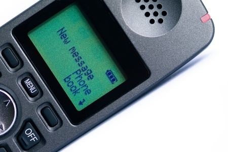 hangup: new message on the phone screen