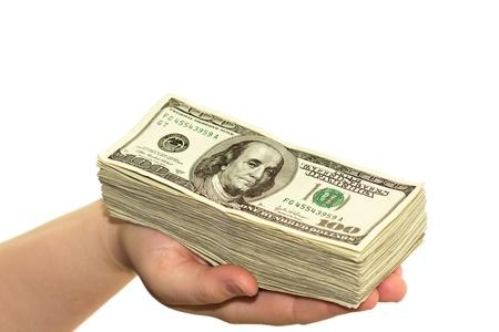 hand full of money photo