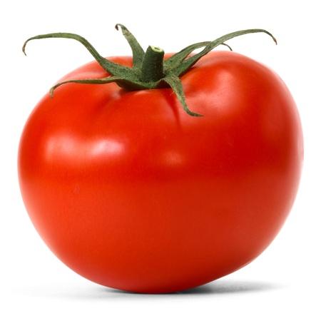 熟した: 白い背景の上のトマト