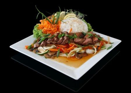 쌀과 쇠고기 양념 구이