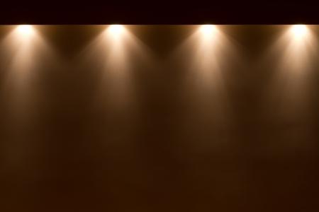 illuminated: spot lights on the wall