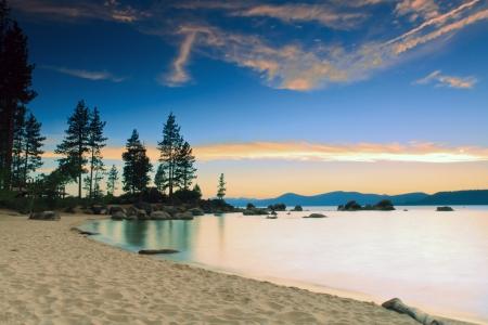 Lake Tahoe after sunset
