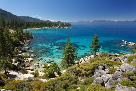 lake shore: Lake Tahoe Stock Photo