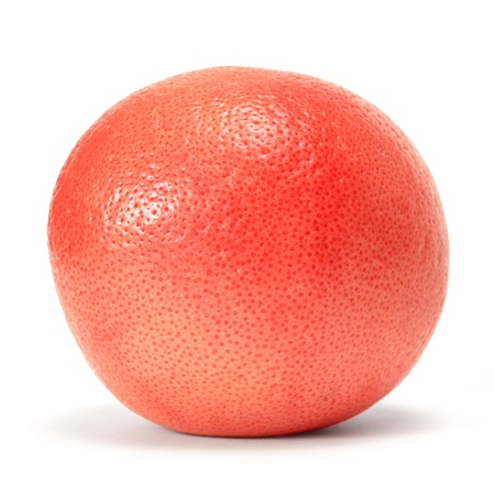 grapefruit over white background