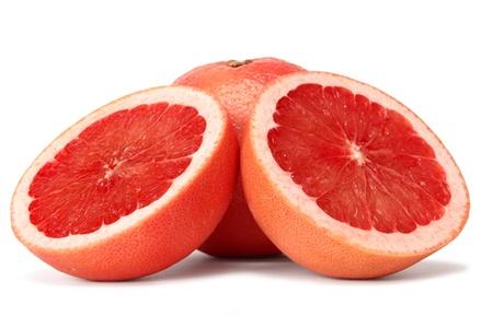 grapefruits over white background