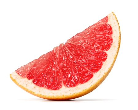 grapefruit slice over white background