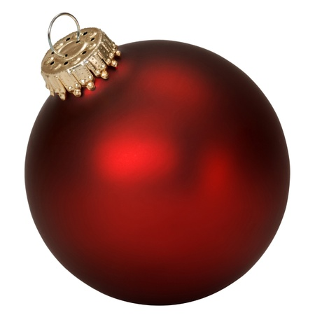 christmas ball isolated: red christmas ball isolated on white background