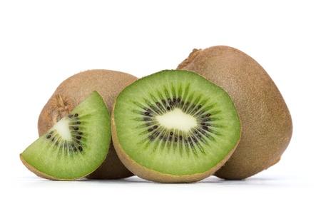 fruta tropical: kiwi sobre fondo blanco Foto de archivo