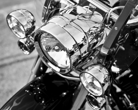 chrome man: motorcycle