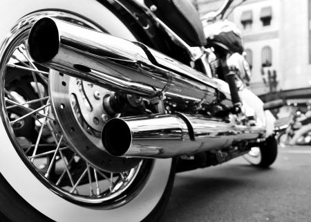 cromo: motocicleta Foto de archivo