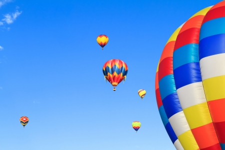 hot air ballon: colorful hot air balloons