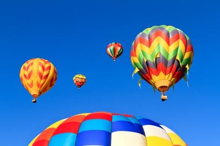 air: colorful hot air balloons
