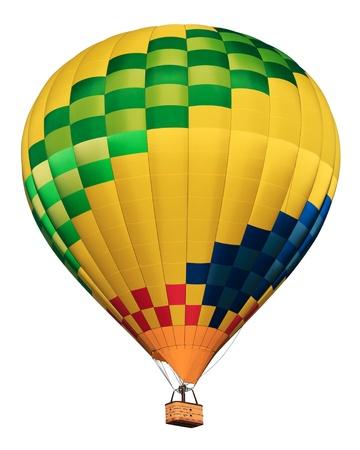 Hete lucht ballon geà ¯ soleerd op wit Stockfoto - 15544277