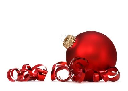 rode kerst bal