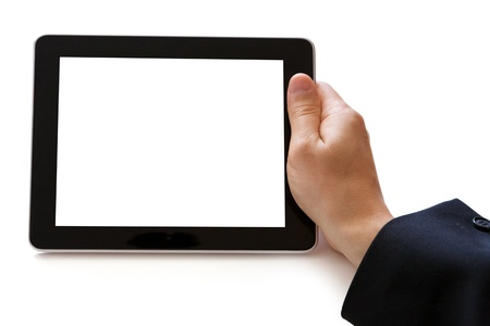 digital tablet in hand