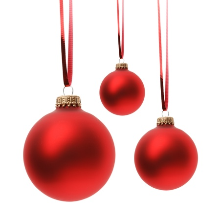 christmas ball isolated: Christmas balls isolated on white background