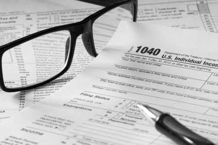 1040 tax form photo