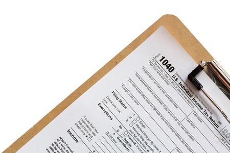 Formulaire d'impôt Banque d'images - 16995673