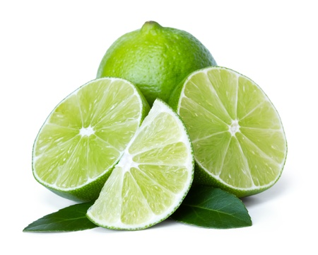lime over white background Stock Photo