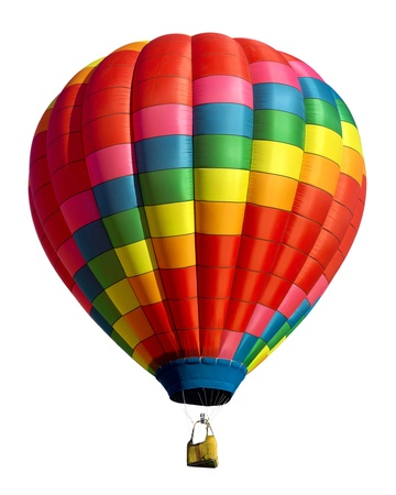 Hete lucht ballon geà ¯ soleerd Stockfoto - 16995763