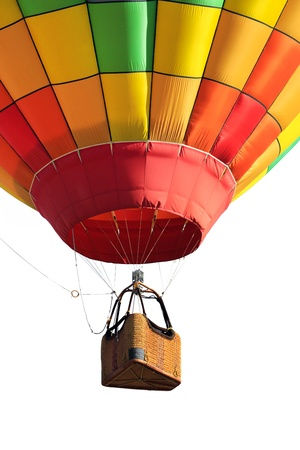 basket: hot air balloon isolated Stock Photo