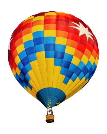air balloon: hot air balloon isolated Stock Photo