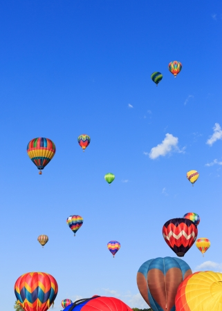 hot air balloons festival photo