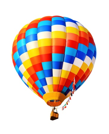 hot air balloons: hot air balloon isolated Stock Photo