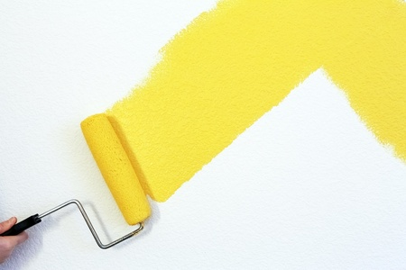 yellow wall: painting a wall