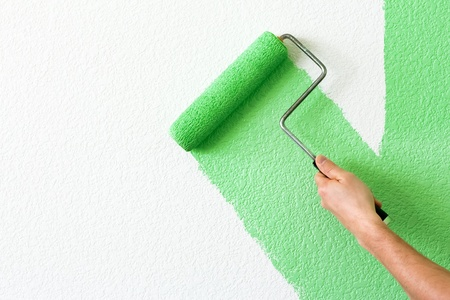 home decorating: painting a wall