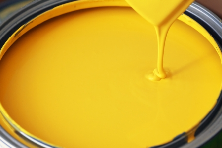 paint can: yellow paint