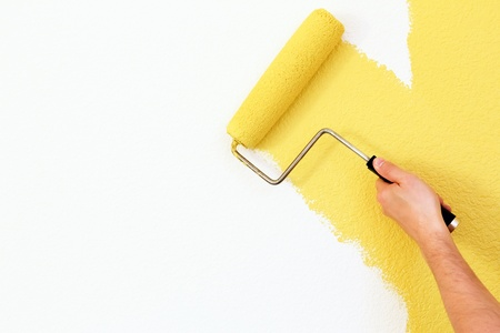 roller: painting a wall