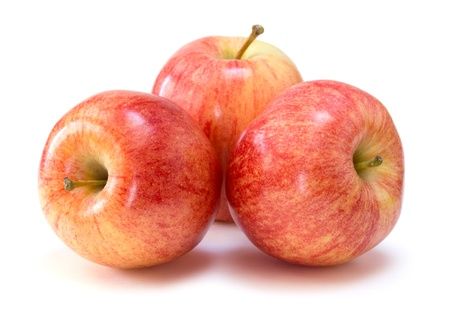 red apples: gala apples Stock Photo