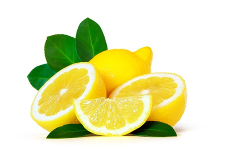 lemons over white background photo