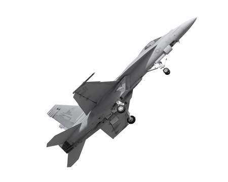 air demonstration: fighter jet isolated Stock Photo