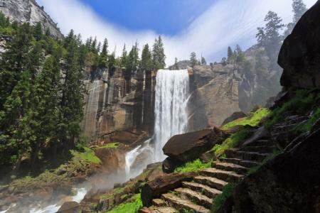 Vernal Fall, Parque Nacional de Yosemite Foto de archivo