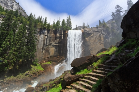 vernal: Vernal Fall, Yosemite National Park Stock Photo