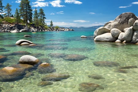 sierra nevada mountains: Lake Tahoe beach