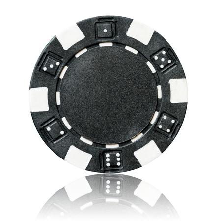 poker chip: black poker chip