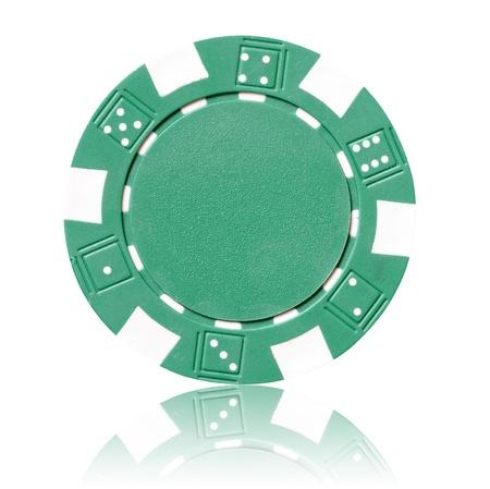 poker chip: green poker chip