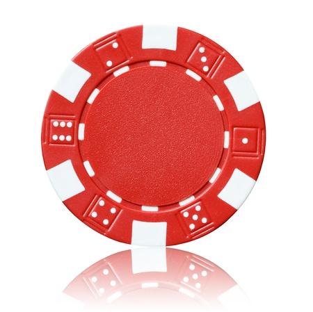 poker chips: red poker chip