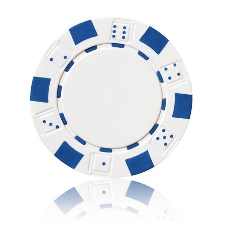 poker chip: white poker chip