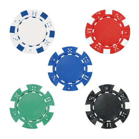 em: set of poker chips