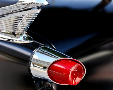rear end: classic car Stock Photo