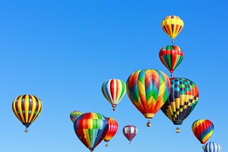 colorful hot air balloons photo