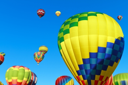 baloon: hot air balloons over blue sky