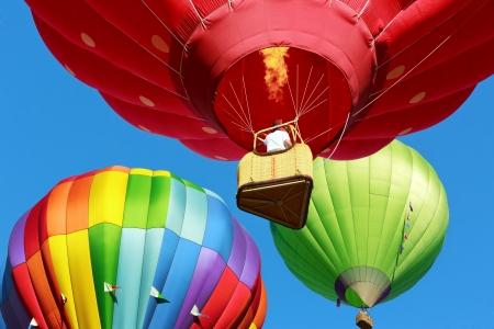 ballooning: hot air balloons over blue sky