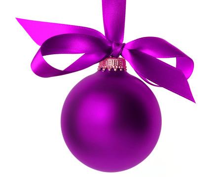 christmas  ornament: blue christmas ball isolated Stock Photo